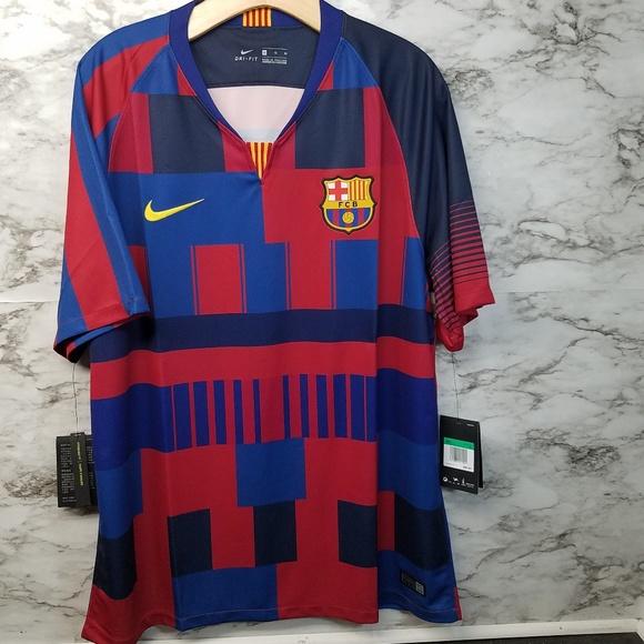 new concept 70c9f 2841e Nike FC Barcelona 20th Anniversary Soccer Jersey NWT